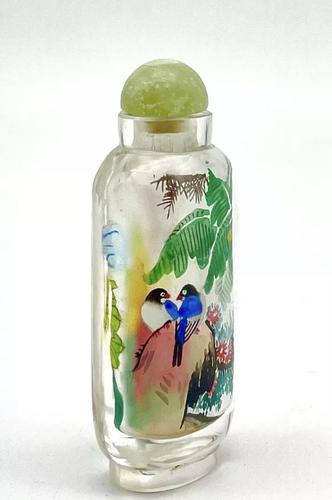 Vintage Chinese Reverse Painted Glass Snuff Bottle (1 of 5)