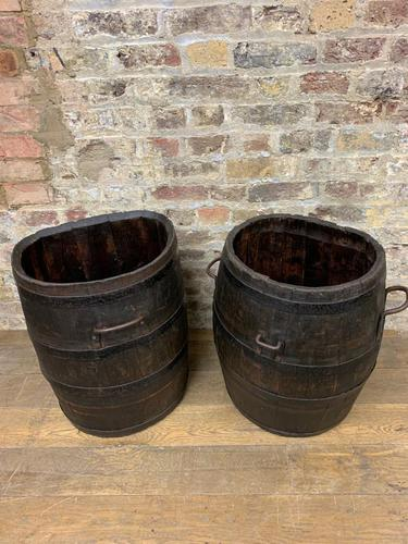 Grape Picking Wooden Barrels (1 of 6)