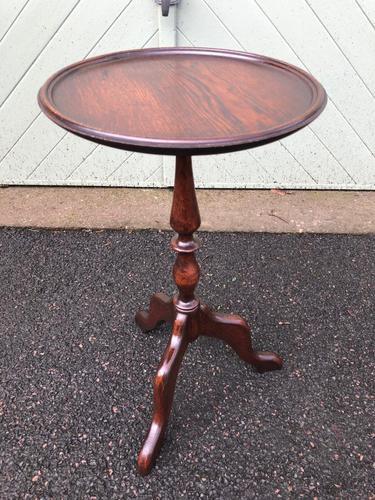 Antique Oak Tripod Wine Table (1 of 6)