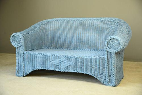 Blue Wicker Sofa (1 of 10)