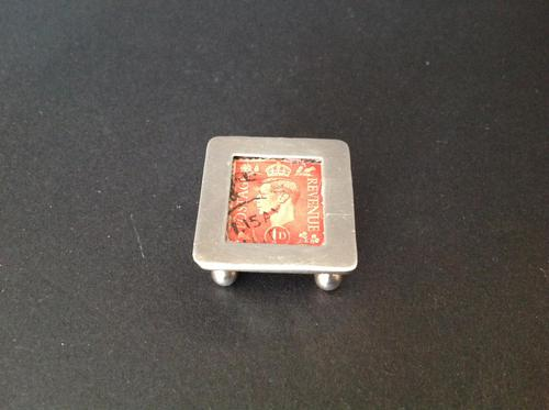 Antique Victorian Silver Stamp Box - 1898 (1 of 4)