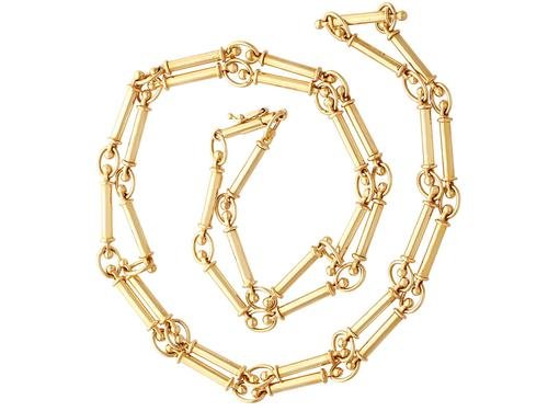 12ct Yellow Gold Chain - Antique c.1920 (1 of 13)