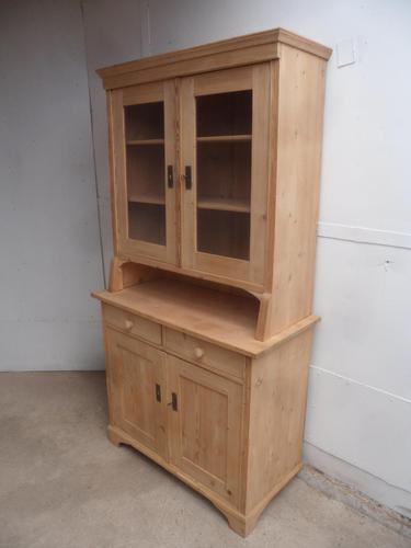 Mint Clean Victorian Antique Pine 2 Door Kitchen Dresser to wax /paint (1 of 10)