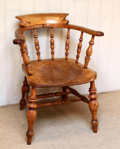 Elm And Beech Smokers Bow Armchair (1 of 10)
