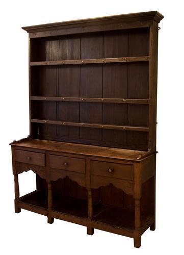 George III Oak Pot Board Dresser (1 of 7)