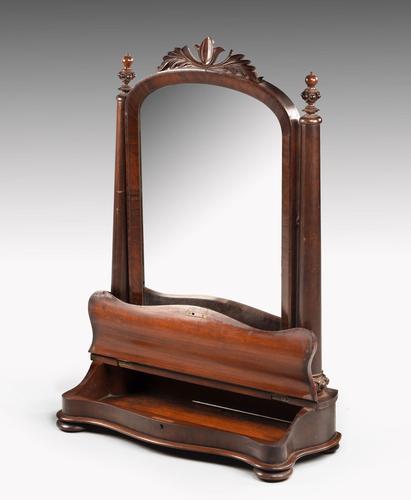 Attractive & Original 19th Century Toilet Mirror (1 of 6)