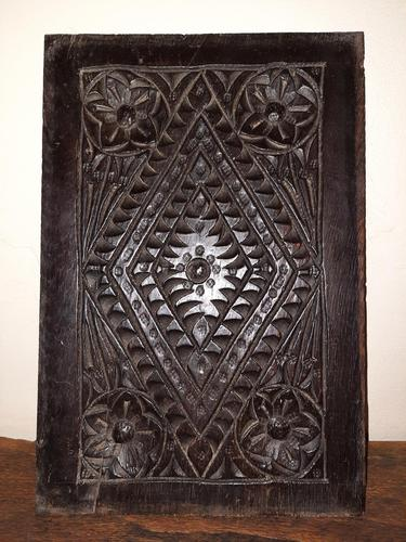 c.1570 A.D. English Tudor Carved Oak Wooden Panel (1 of 11)
