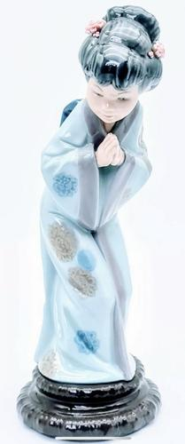 Lladro Spain Porcelain Figurine of Young Japanese Geisha Girl (1 of 7)