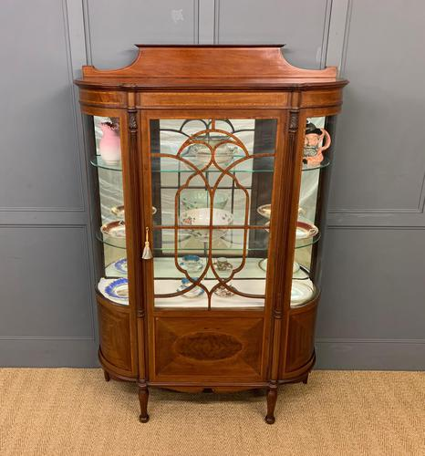 Inlaid Mahogany Display Cabinet by Jas Shoolbred (1 of 14)