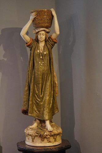 Large Royal Dux Figure by Alois Hempel (1 of 6)
