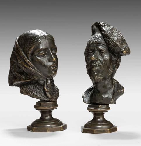 Pair of Mid 19th Century French Desk Bronzes (1 of 5)