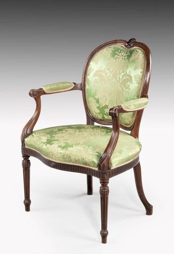 Hepplewhite Design Mahogany Framed Chair (1 of 5)