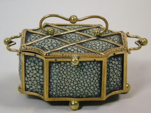 Fine Antique Shagreen Jewellery / Ring Trinket Box (1 of 9)