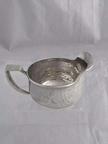 Antique Silver Cream Jug Arts & Crafts 1908 William Haseler Birmingham Sterling (1 of 11)