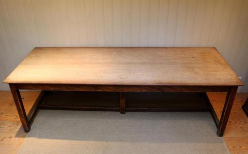 Large Light Mahogany School Refectory Table (1 of 9)