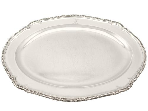 York Sterling Silver Meat Platter - Antique George III (1 of 9)