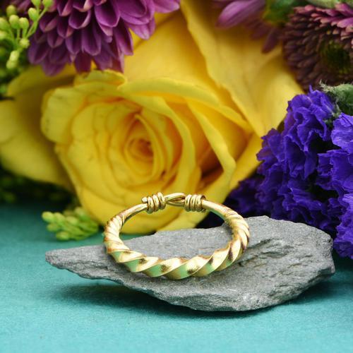 The Ancient Viking Era Gold Twisted Wedding Band (1 of 3)