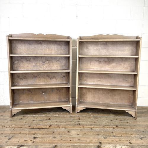 Pair of Antique Oak Bookcases (1 of 8)
