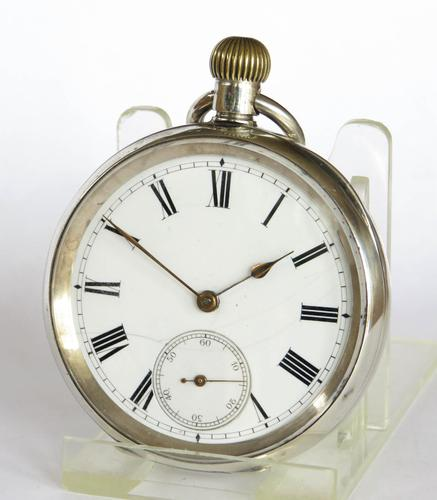 """Antique Silver Omega """"Anecdotes"""" Pocket Watch (1 of 5)"""