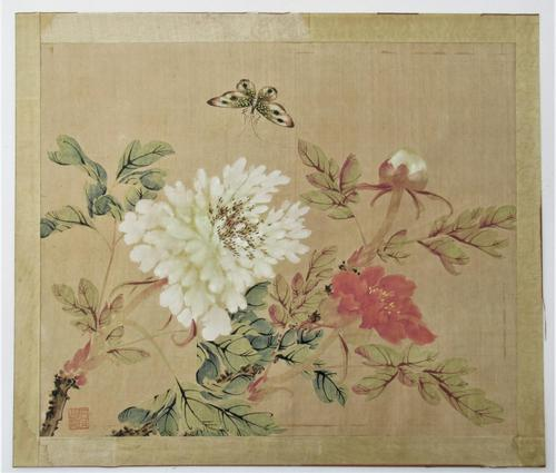 Chinese Watercolour on Silk, Lignan School, Early 20th Century, Unframed (1 of 6)