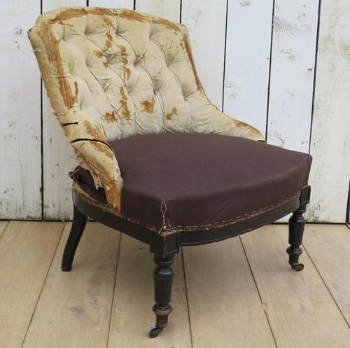 Antique French Button Back Tub Chair (1 of 8)