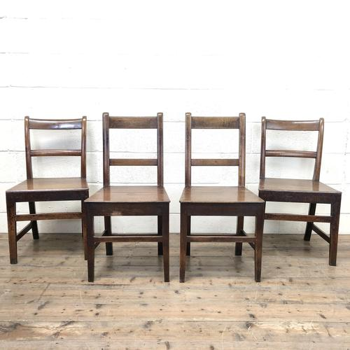 Four 19th Century Oak Back Bar Chairs (1 of 10)