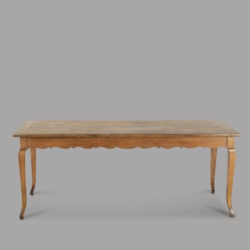 Mid 19th Century French Fruitwood Farmhouse Table (1 of 4)