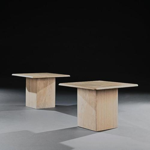 Pair of 20th Century Travertine Side Tables (1 of 7)