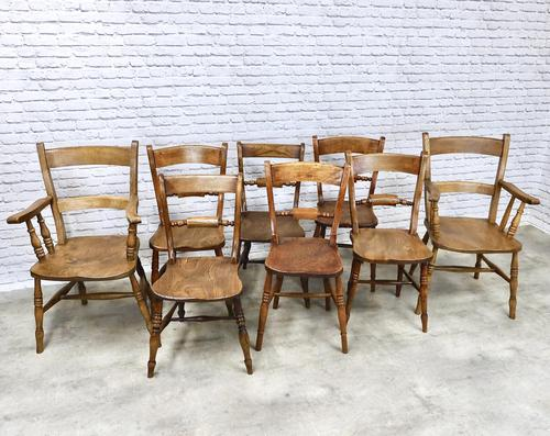 Set of Oxford Barback Windsor Chairs with 2 Carvers (1 of 7)