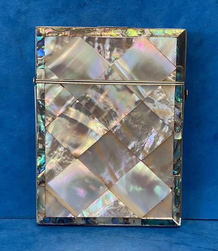 Victorian Abalone & Mother of Pearl Card Case (1 of 16)