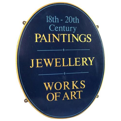 Antique Shop Advertising Sign 18th-20th Century Paintings Jewellery Works Of Art (1 of 12)