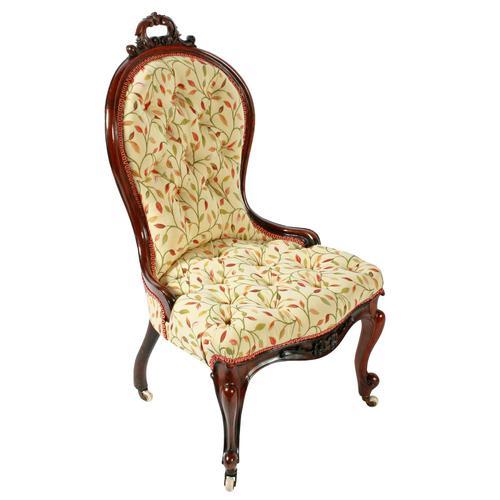 Victorian Rosewood Ladies Chair (1 of 8)