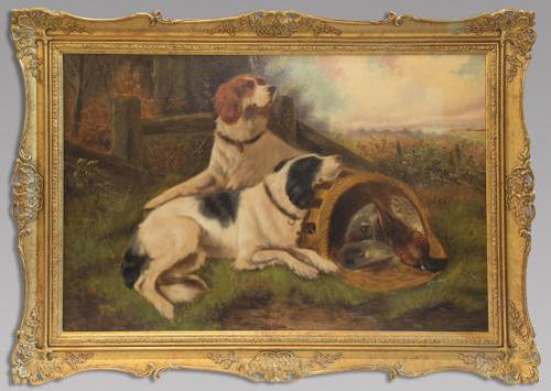 First Catch 19thc - Oil On Canvas - Signed Indistinctly (1 of 3)