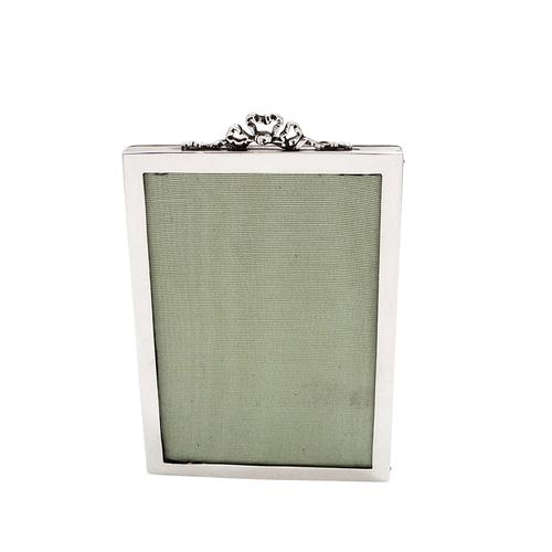 """Antique Sterling Silver 6"""" Bow / Ribbon Photo Frame 1918 (1 of 8)"""