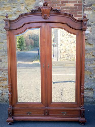 Large Antique French Walnut Armoire / Wardrobe (1 of 14)
