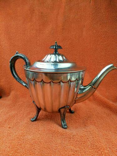 Antique Silver Plate Sheffield Teapot - Art Deco  C1920 (1 of 11)