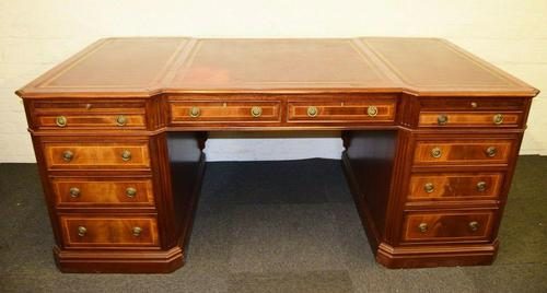 Huge Antique Design Mahogany Partners Desk (1 of 12)