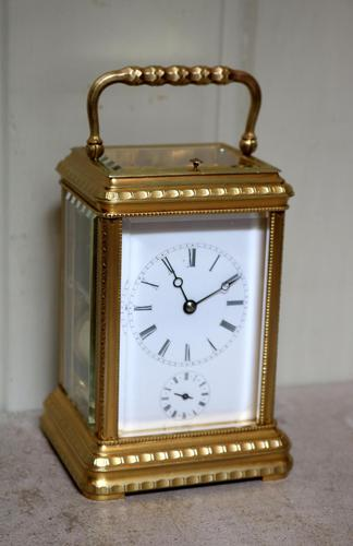 Bell Striking and Repeating and Alarm Gorge Case Carriage Clock (1 of 11)