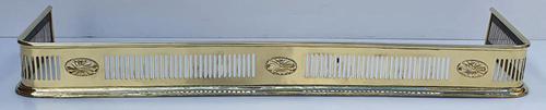 19th Century Neat Size Brass Fender (1 of 4)