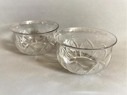 Superb Pair of Victorian Cut & Frosted Finger Bowls (1 of 4)