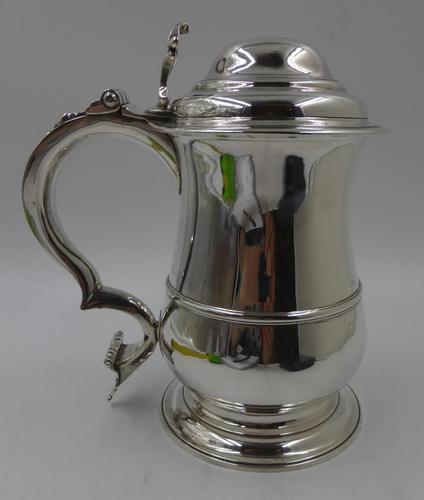 Antique George II Silver Lidded Tankard London 1754 Maker Thomas Whipham (1 of 9)