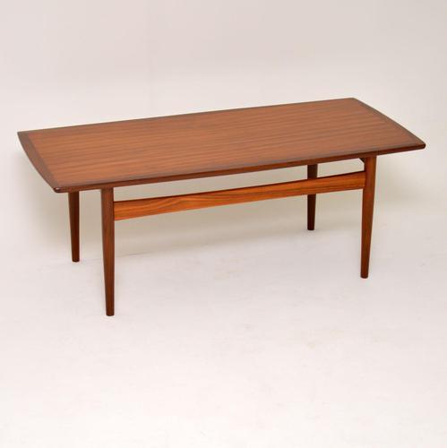 1960 Danish Teak Vintage Coffee Table (1 of 6)