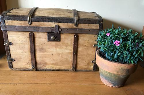 Antique Domed Wooden Sea Trunk c.1850 (1 of 13)