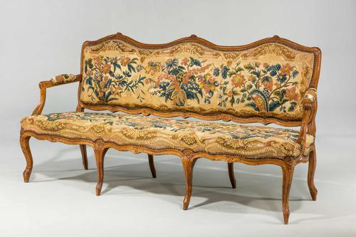 Louis XV Beech Framed Sofa (1 of 5)