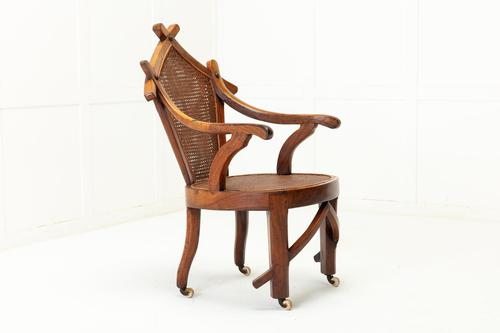 19th Century Walnut and Cane Chair (1 of 8)