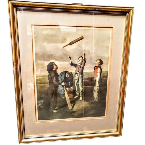 The Toss For Innings - Framed Colour Print of Painting by Robert James (1 of 6)