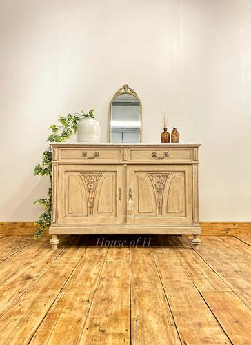 French Antique Style Marble Sideboard / Cupboard / Washstand (1 of 7)