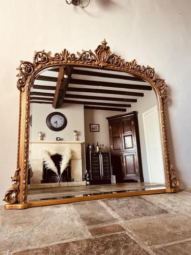 Antique Gold Mirror / Gilt Mirror / Large Mirror (1 of 9)