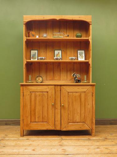 Antique Rustic Pine Country Kitchen Dresser (1 of 15)