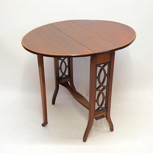 Edwardian  Inlaid Mahogany  Oval Sutherland Table (1 of 13)